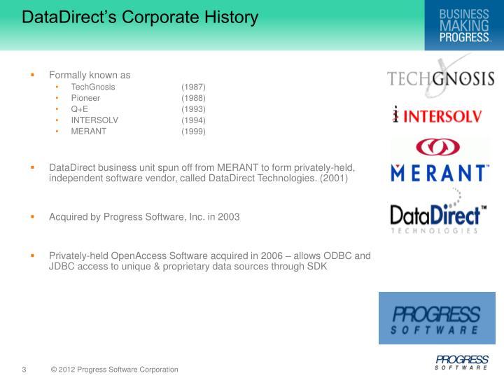 DataDirect's Corporate History
