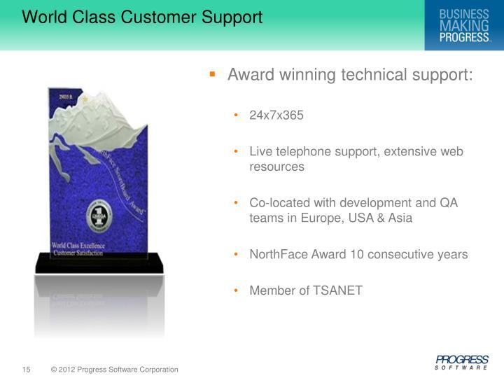 World Class Customer Support