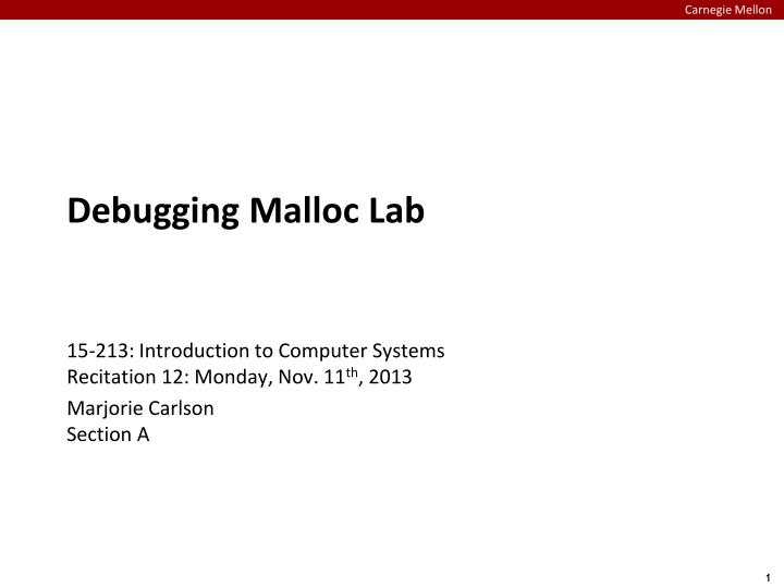 Debugging malloc lab