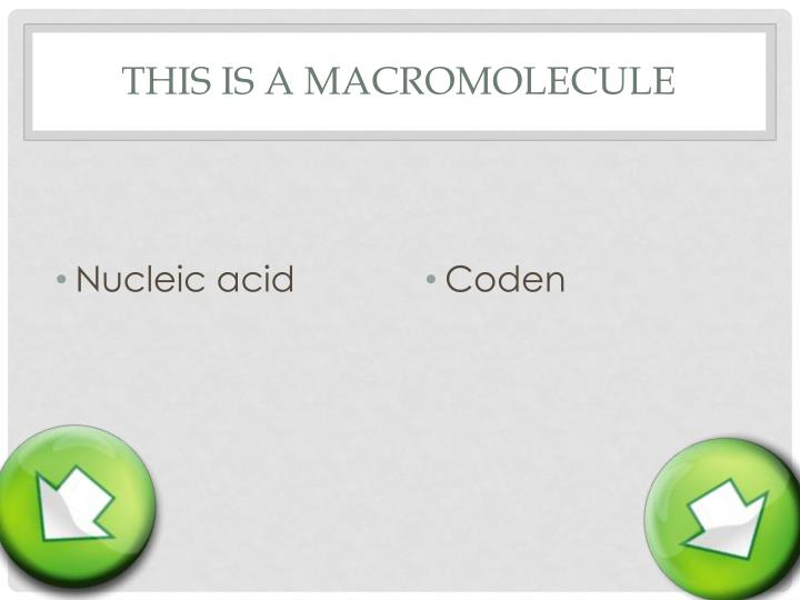 This is a macromolecule