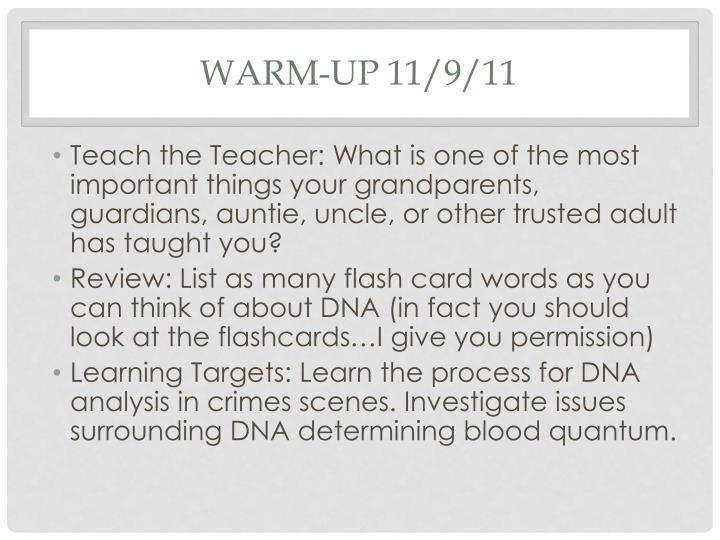 Warm-up 11/9/11