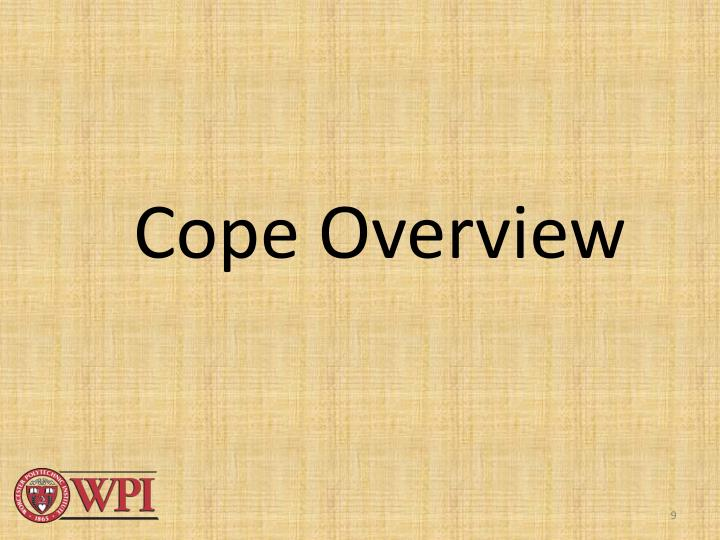 Cope Overview