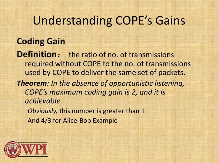 Understanding COPE's Gains