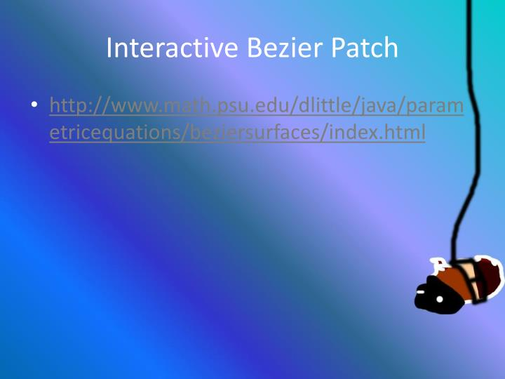 Wiki bezier surface patches
