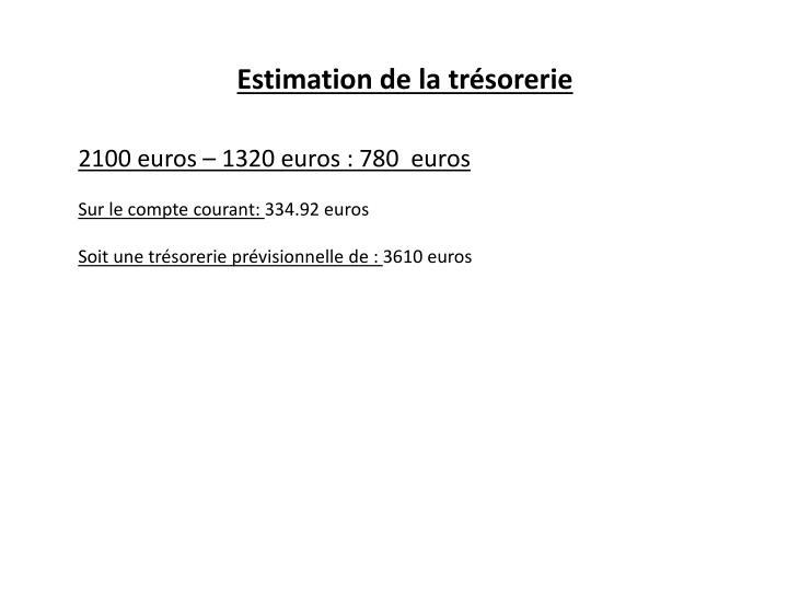 Estimation de la trésorerie
