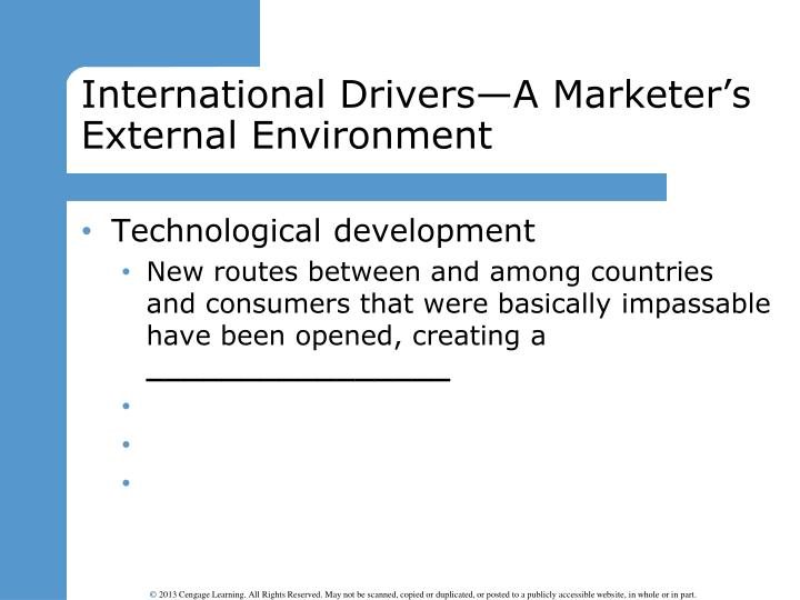 International Drivers—A Marketer's