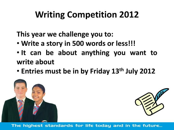 Writing Competition 2012