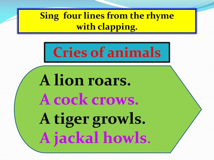 Sing  four lines from the rhyme