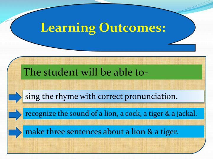 Learning Outcomes:
