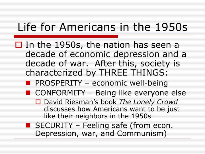 Life for Americans in the 1950s