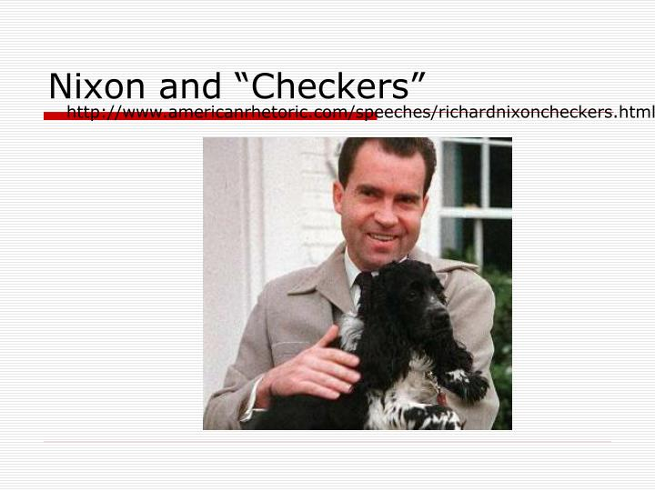 "Nixon and ""Checkers"""
