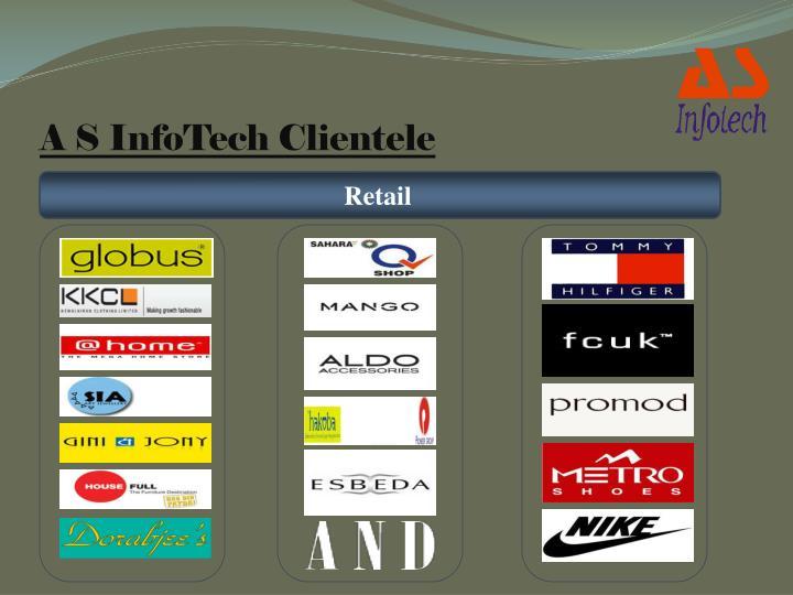 A S InfoTech Clientele