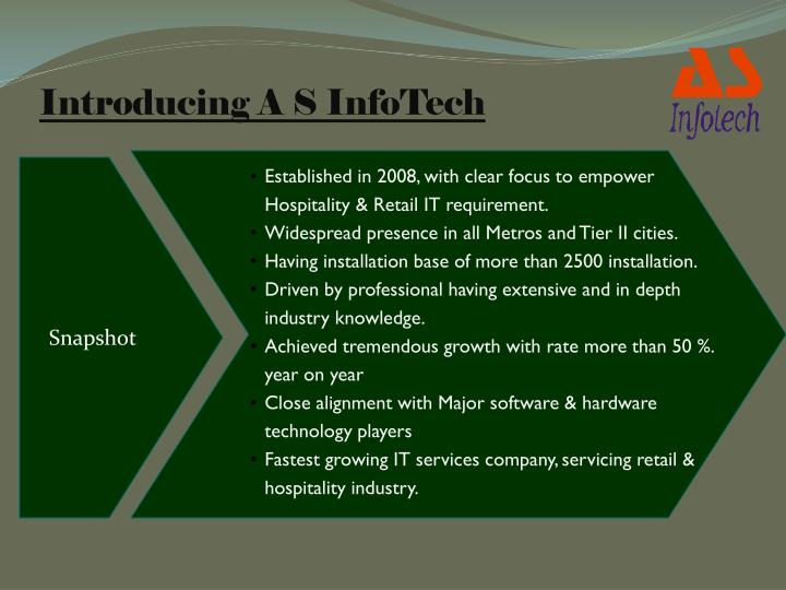Introducing A S InfoTech
