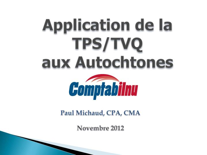 Paul michaud cpa cma novembre 2012