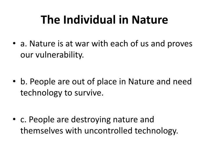 The Individual in Nature