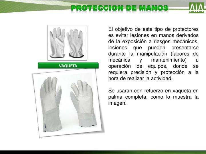 PROTECCION DE manos