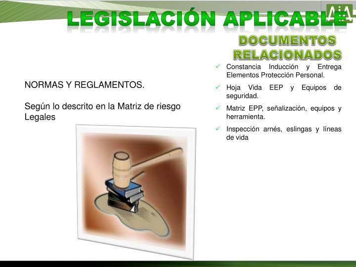Legislación aplicable
