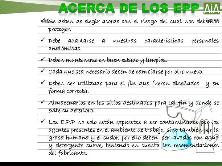 ACERCA DE LOS EPP