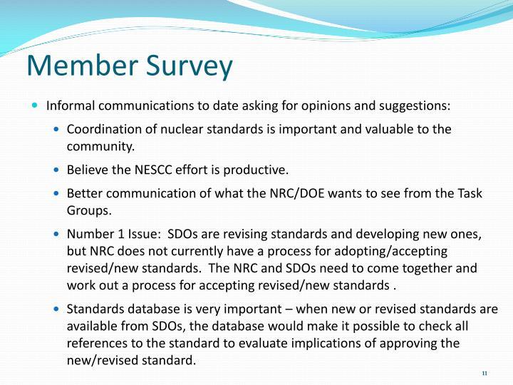 Member Survey
