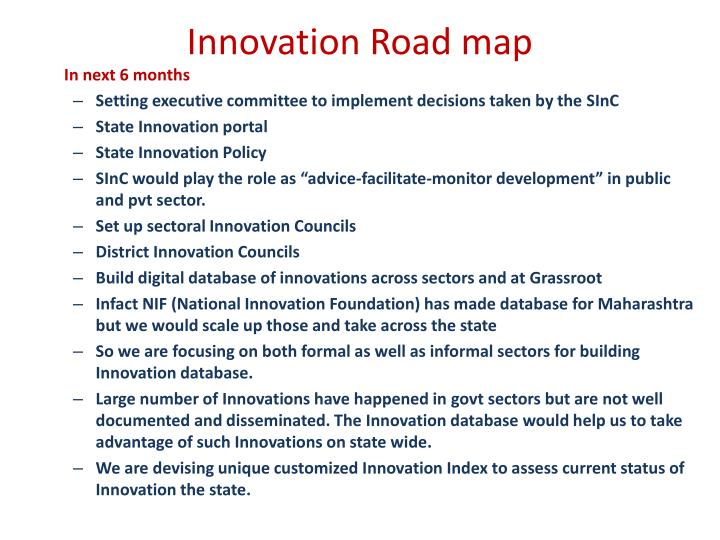 Innovation Road map