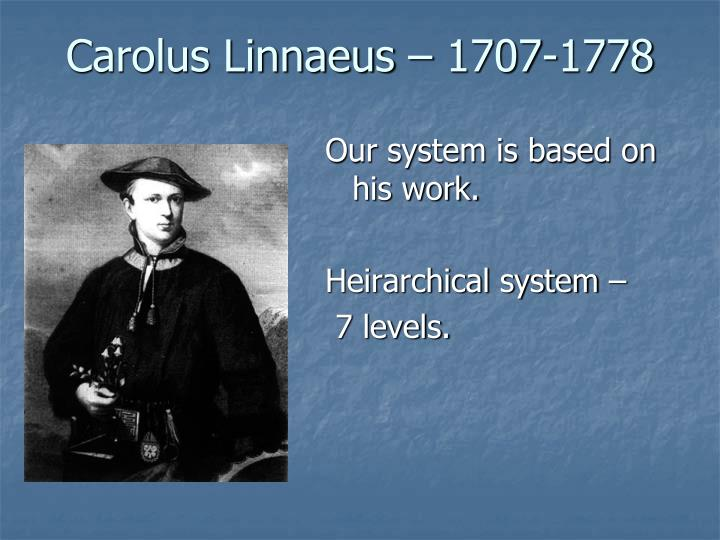 Carolus Linnaeus – 1707-1778