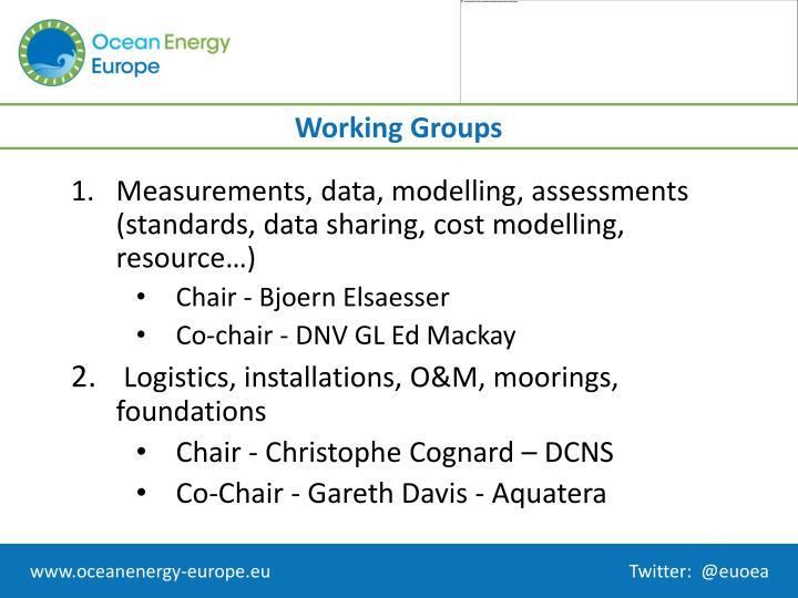 Measurements, data, modelling, assessments