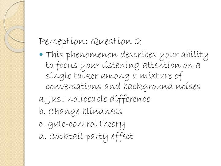 Perception: Question 2