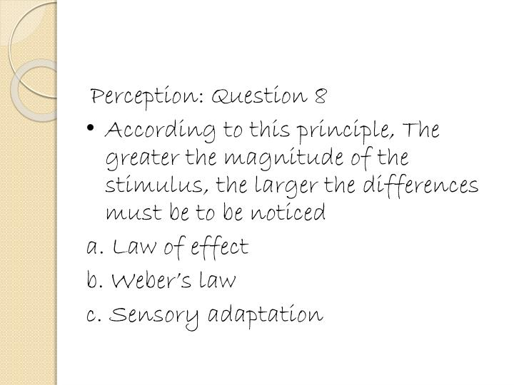 Perception: Question 8