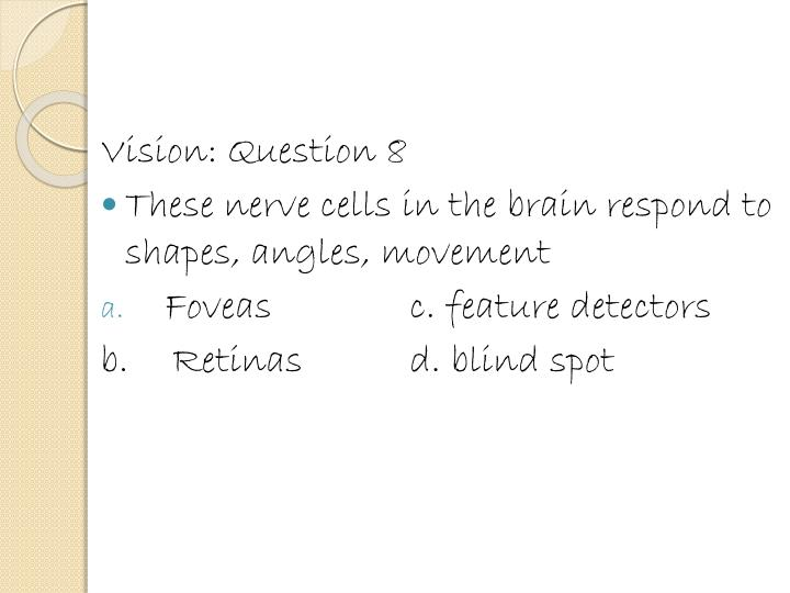 Vision: Question 8