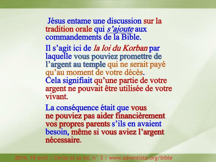 Jésus entame une discussion