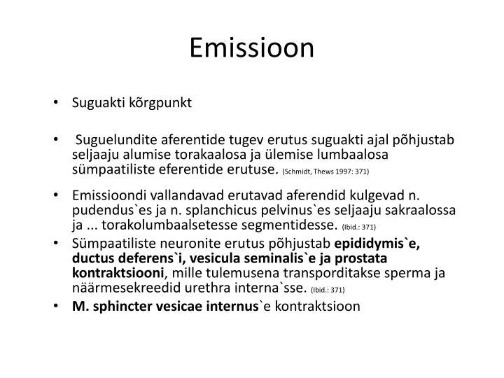 Emissioon
