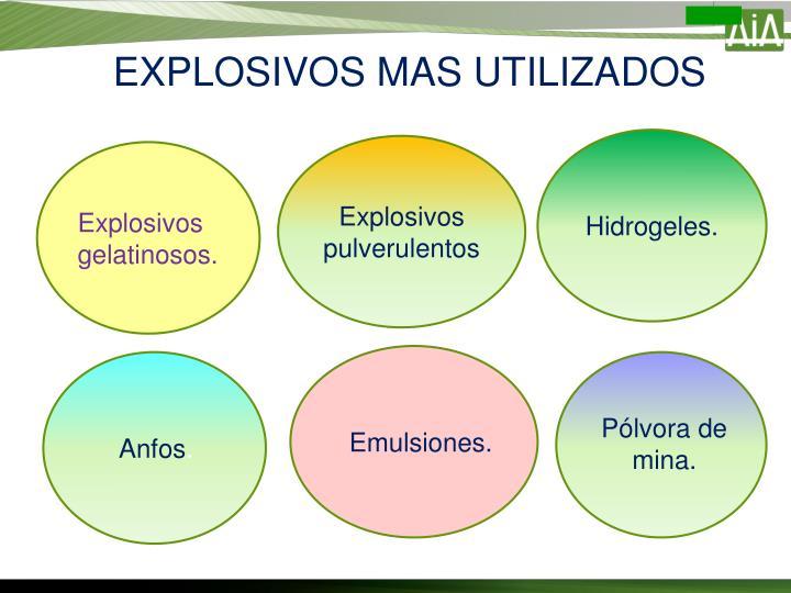 EXPLOSIVOS MAS UTILIZADOS