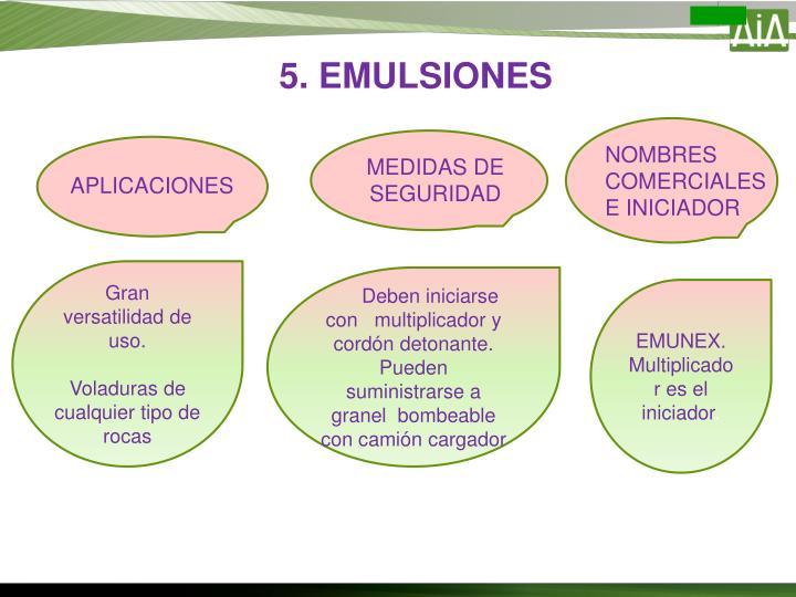 5. EMULSIONES
