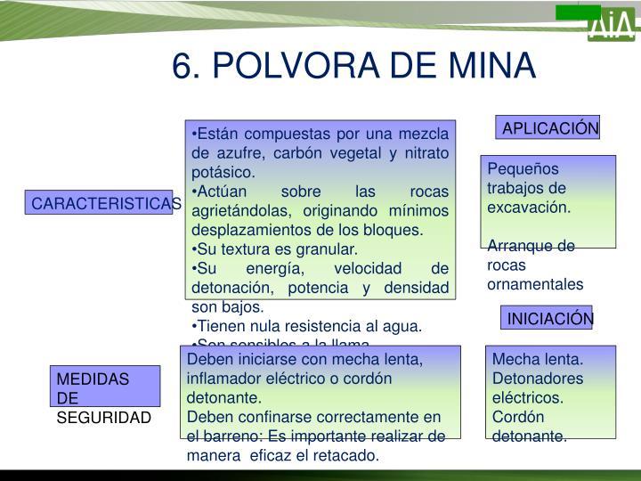 6. POLVORA DE MINA