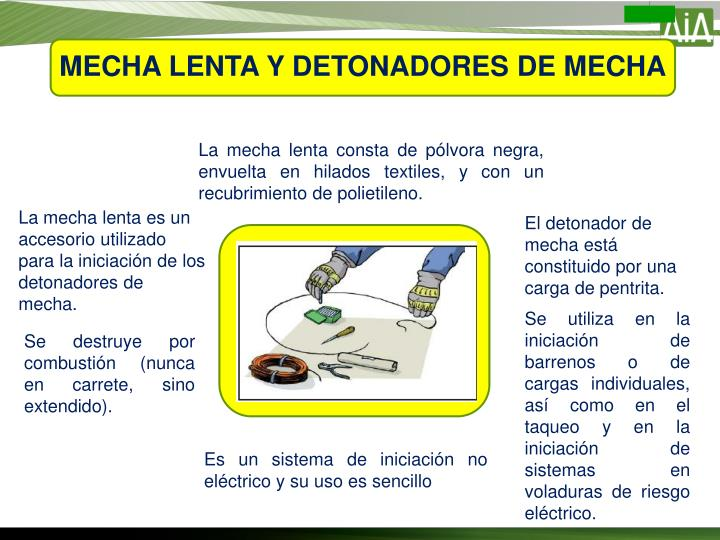 MECHA LENTA Y DETONADORES DE MECHA