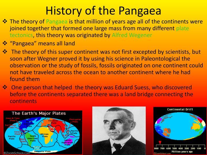 History of the Pangaea