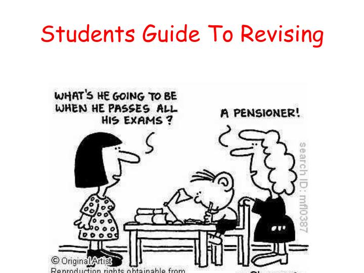 Students guide to revising