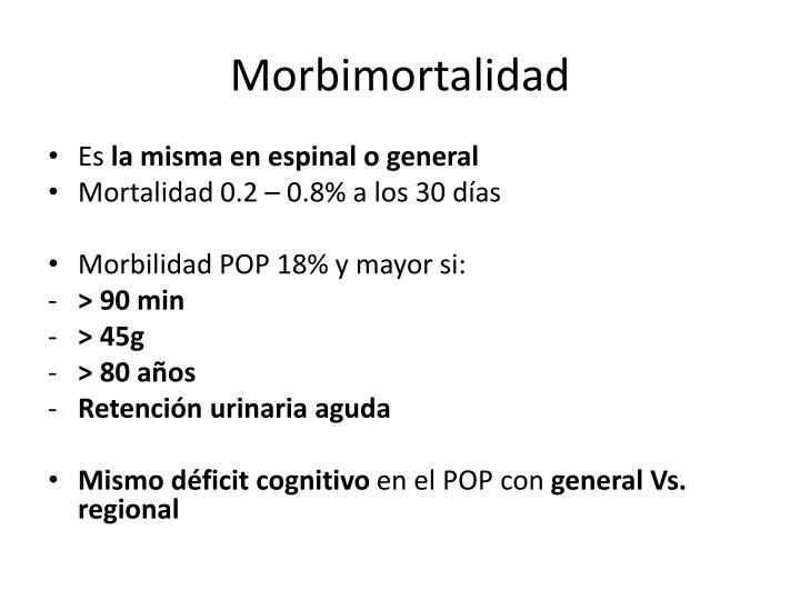 Morbimortalidad