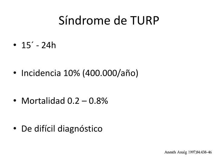 Síndrome de TURP
