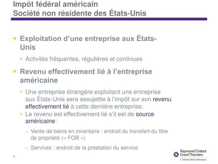 Impôt fédéral américain