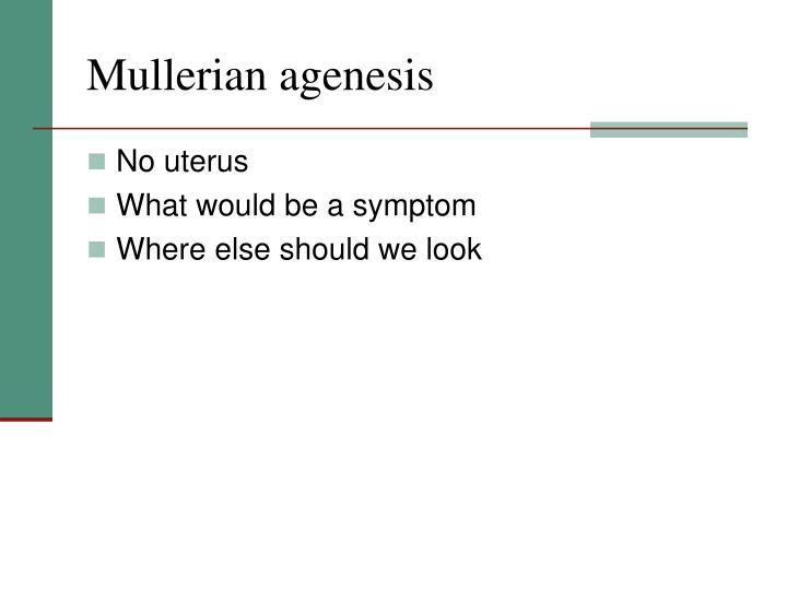 Mullerian agenesis