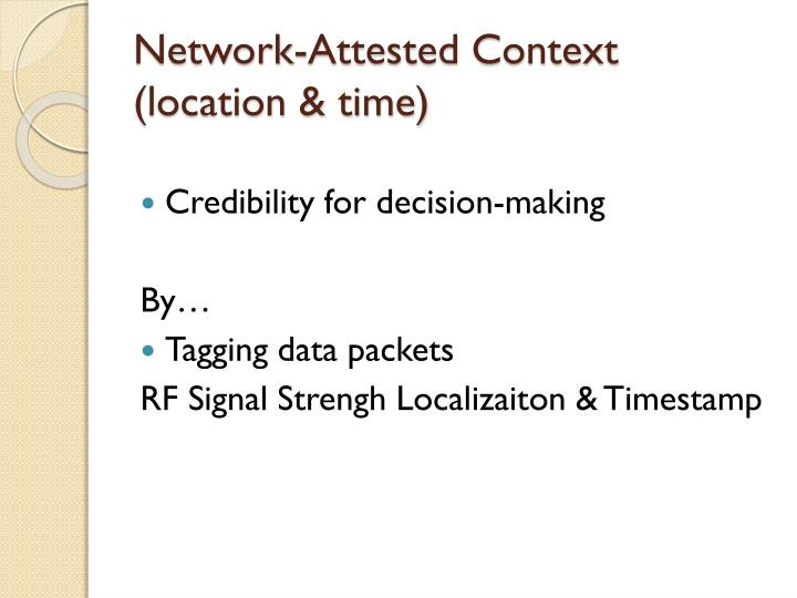 Network-Attested