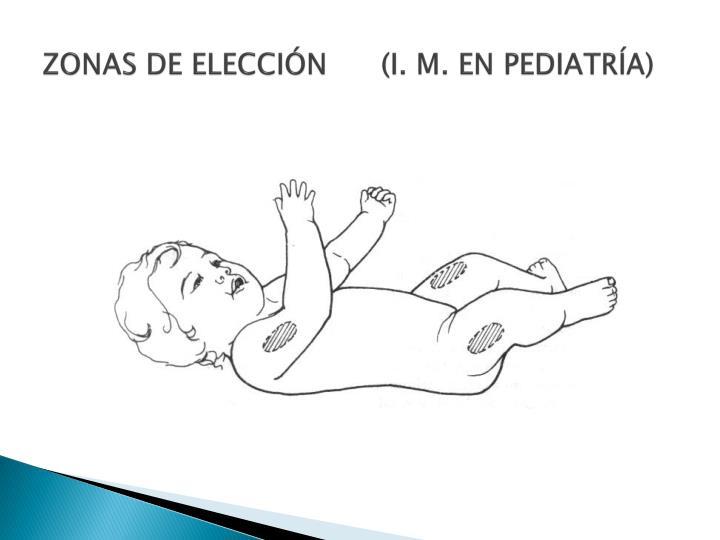 ZONAS DE ELECCIÓN      (I. M. EN PEDIATRÍA)