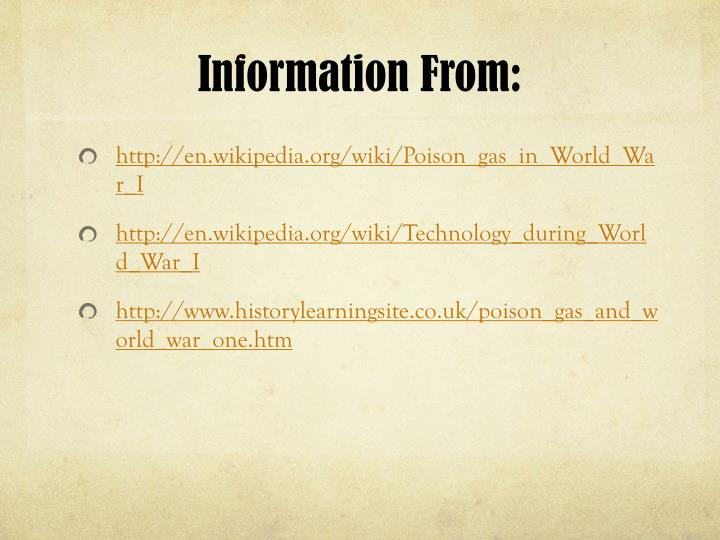 Information From: