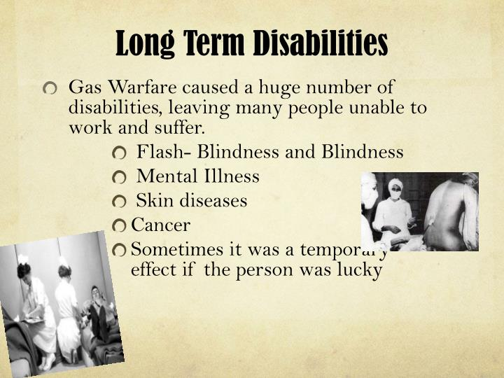 Long Term Disabilities