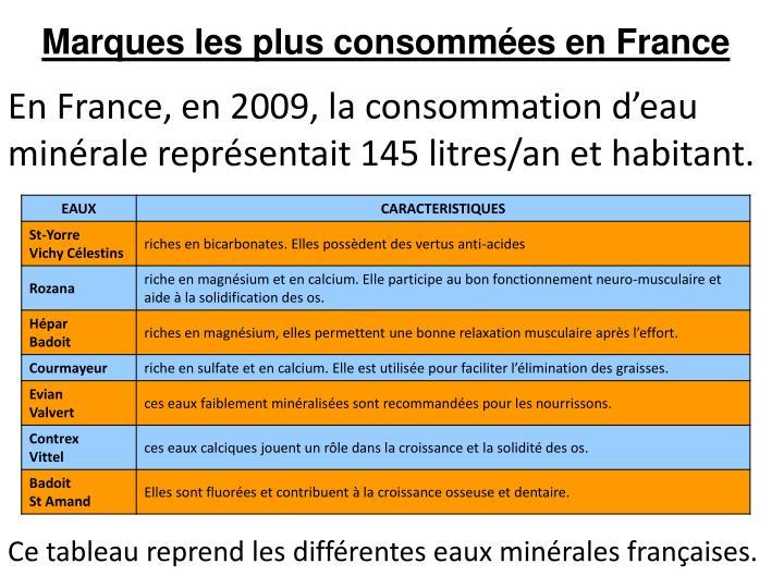 Marques les plus consommées en France