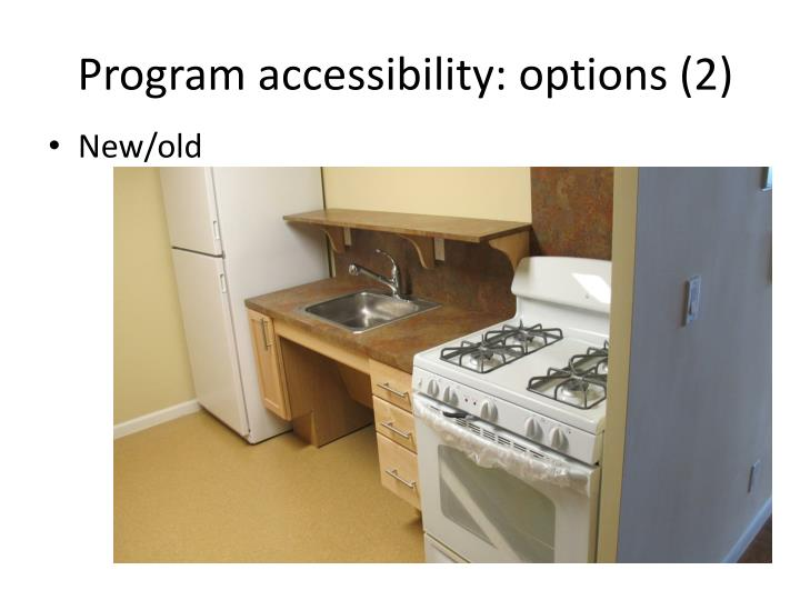 Program accessibility: options (2)