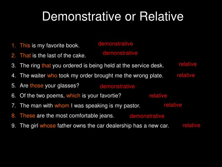 Demonstrative or Relative