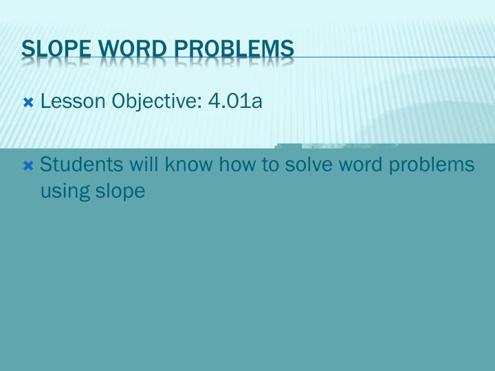 Slope word problems1