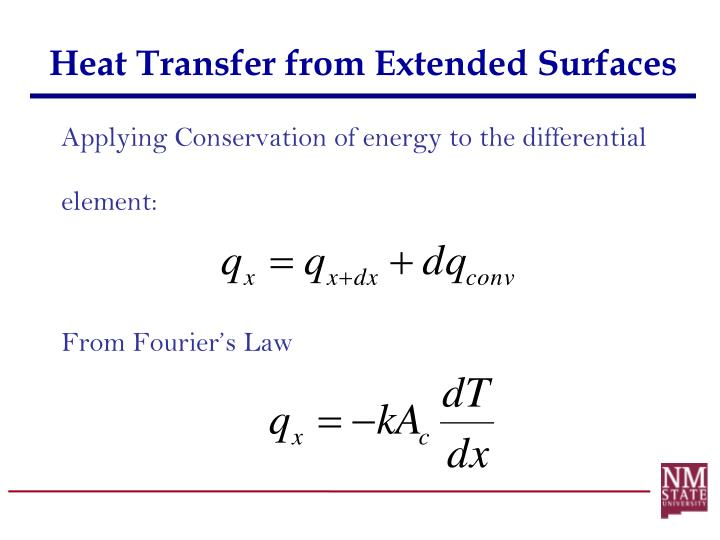 Heat Transfer from Extended Surfaces